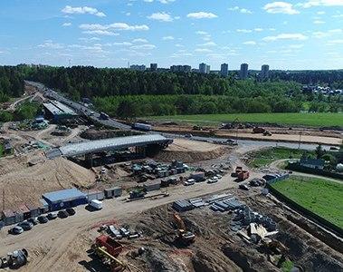 Строительство ЦКАД в Московской области