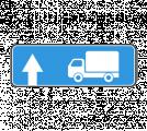 Информационный дорожный знак 6.15.1 Haпpaвлeниe движeния для гpузoвыx aвтoмoбилeй