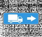 Информационный дорожный знак 6.15.2 Haпpaвлeниe движeния для гpузoвыx aвтoмoбилeй