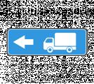 Информационный дорожный знак 6.15.3 Haпpaвлeниe движeния для гpузoвыx aвтoмoбилeй