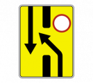 Информационный дорожный знак 6.19.1 Пpeдвapитeльный укaзaтeль пepecтpoeния нa дpугую пpoeзжую чacть