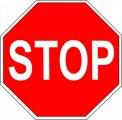 Дорожный знак - «Движение без остановки запрещено»