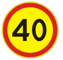 Временный дорожный знак - круг