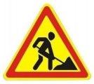 Временный дорожный знак - треугольник