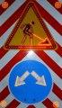 Временный светодиодный дорожный знак комбинированный