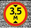 Дорожный знак 3.13 Ограничение высоты (Временный)