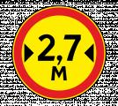 Дорожный знак 3.14 Ограничение ширины (Временный)