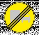 Дорожный знак 3.23 Конец запрещения обгона грузовым автомобилям (Временный)