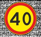 Дорожный знак 3.24 Ограничение максимальной скорости (Временный)