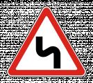 Дорожный знак 1.12.2 Опасные повороты
