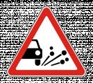 Дорожный знак 1.18 Выброс гравия