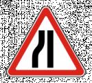 Дорожный знак 1.20.3 Сужение дороги