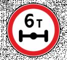 Дорожный знак 3.12 Ограничение массы, приходящейся на ось транспортного средства