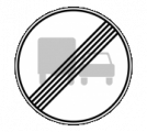 Дорожный знак 3.23 Конец запрещения обгона грузовым автомобилям