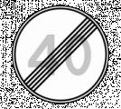 Дорожный знак 3.25 Конец ограничения максимальной скорости