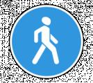 Дорожный знак 4.5.1 Пешеходная дорожка