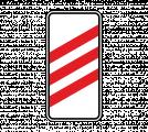 Дорожный знак 1.4.1 Приближение к железнодорожному переезду (правый, 3 полосы)