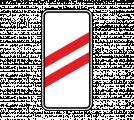 Дорожный знак 1.4.2 Приближение к железнодорожному переезду (правый, 2 полосы)