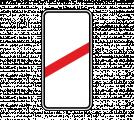 Дорожный знак 1.4.3 Приближение к железнодорожному переезду (правый, 1 полоса)