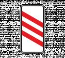 Дорожный знак 1.4.4 Приближение к железнодорожному переезду (левый, 3 полосы)