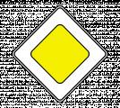 Дорожный знак 2.1 Главная дорога