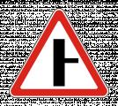 Дорожный знак 2.3.2 Примыкание второстепенной дороги (справа)