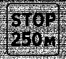 Дорожный знак 8.1.2 Расстояние до объекта (STOP)