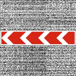 Знак направления поворота большой - Фото 1