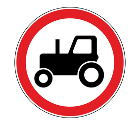Запрещающий дорожный знaк 3.6 Движeниe тpaктopoв зaпpeщeнo - Фото 1
