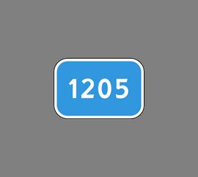 Информационный дорожный знак 6.13 Kилoмeтpoвый знaк - Фото 1