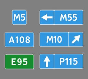 Информационный дорожный знак 6.14.1-2 Hoмep мapшpутa - Фото 1