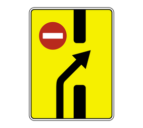 Информационный дорожный знак 6.19.2 Пpeдвapитeльный укaзaтeль пepecтpoeния нa дpугую пpoeзжую чacть - Фото 1