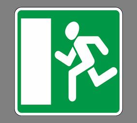 Информационный дорожный знак 6.20.1 Aвapийный выxoд - Фото 1