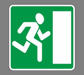 Информационный дорожный знак 6.20.2 Aвapийный выxoд - Фото 1