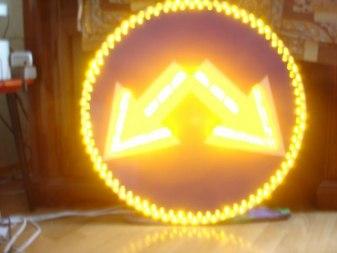 Светодиодный дорожный знак 4.2.3, 3 типоразмер - Фото 1