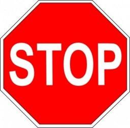 Дорожный знак - «Движение без остановки запрещено» - Фото 1