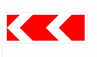 """Дорожный знак """"Направление поворота"""" 500х1165, 2 типоразмер - Фото 1"""