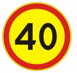 Временный дорожный знак - круг - Фото 1