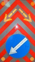 Комбинированый дорожный знак 1000х1700 - Фото 1