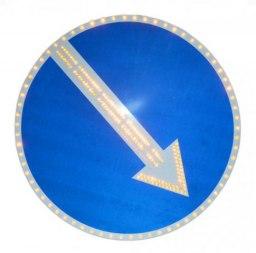Светодиодный дорожный знак 4.2.1 (4.2.2) с кантом, 2 типоразмер, 700 мм - Фото 1