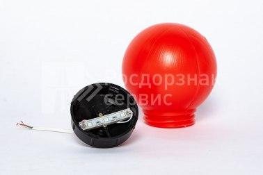 Фонарь сигнальный светодиодный ФС-12, НСП, круглый, красный - Фото 4