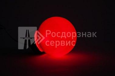 Фонарь сигнальный светодиодный ФС-12, НСП, круглый, красный - Фото 3