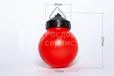 Фонарь сигнальный светодиодный ФС-12, НСП, круглый, красный - Фото 1