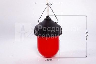Фонарь сигнальный светодиодный ФС-12, НСП, «жёлудь», красный - Фото 1
