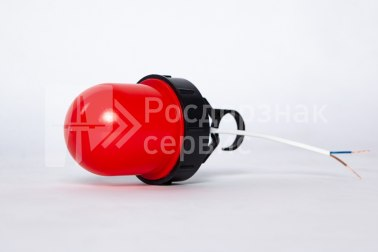 Фонарь сигнальный светодиодный ФС-12, НСП, «жёлудь», красный, с крючком - Фото 1