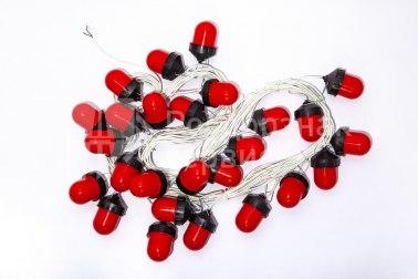 Гирлянда светодиодных фонарей ФС-12 «желудь» красная - Фото 1