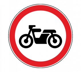 Дорожный знак 3.5 Движение мотоциклов запрещено - Фото 1