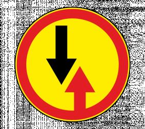 Дорожный знак 2.6 Преимущество встречного движения (Временный) - Фото 1