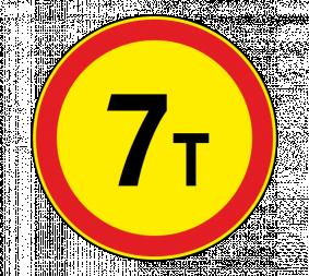 Дорожный знак 3.11 Ограничение массы (Временный) - Фото 1