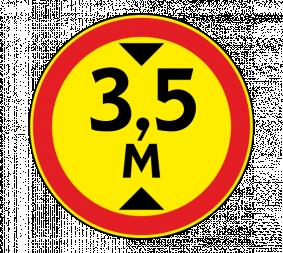 Дорожный знак 3.13 Ограничение высоты (Временный) - Фото 1